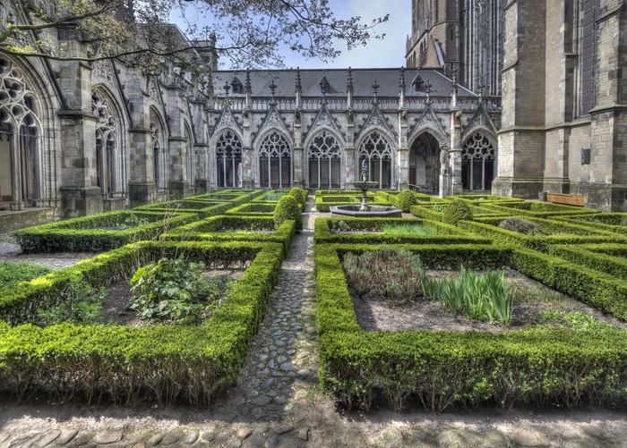 Vinylová Tapeta Katedrála klášter Garden Utrecht - Veřejné budovy