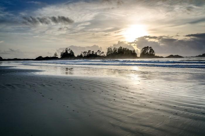 Vinylová Tapeta Sunset, British Columbia, Tofino - Voda