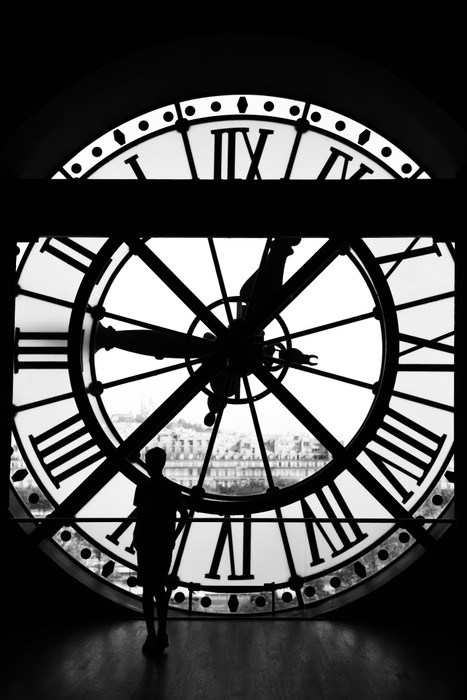 The Orsay Museum Musee D Orsay Clock In Black Amp White