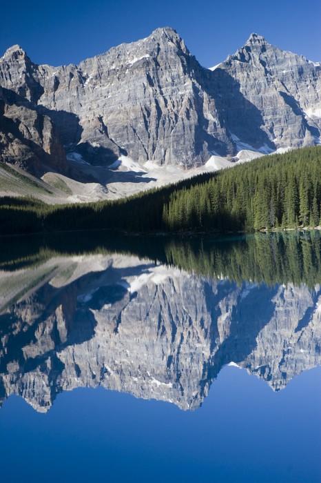 Vinyl-Fototapete Moraine Lake im Banff Nationalpark Kanada - Berge