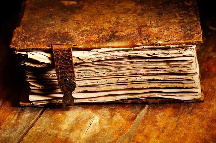 Vinylová Tapeta Starý ošuntělý kniha v koženým potahem - Styly
