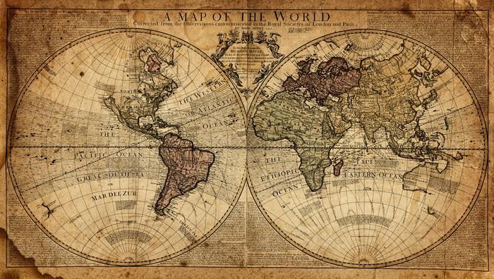 Vinylová Tapeta Vintage mapa světa - Témata