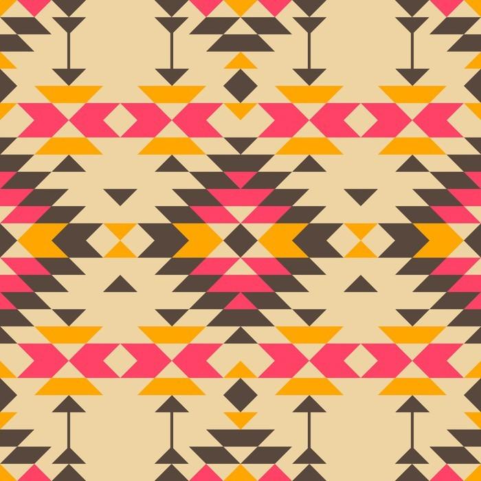 Pixerstick Dekor Indian stil seamless - Grafiska resurser