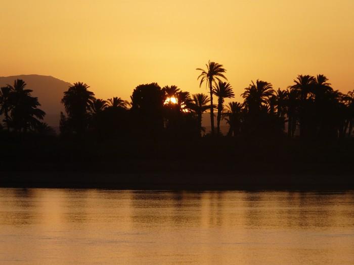 Vinylová Tapeta Východ slunce na Nilu - Afrika