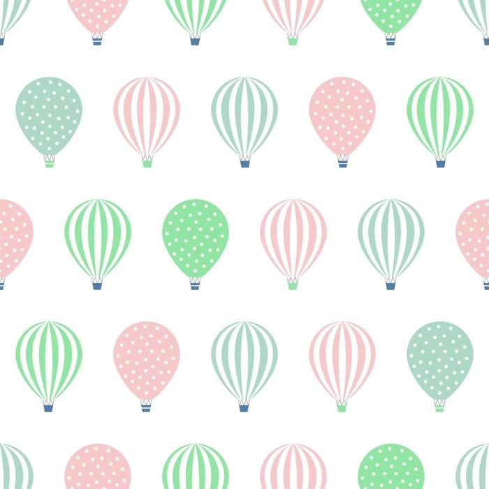 papier peint motifs montgolfi re seamless illustrations vectorielles de douche b b isol sur. Black Bedroom Furniture Sets. Home Design Ideas