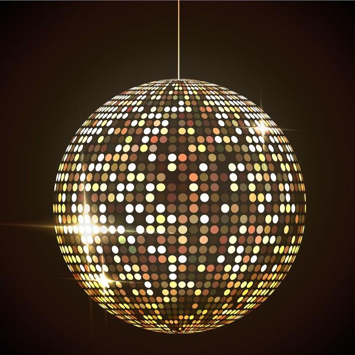 fotobehang spiegel disco bal vector illustratie eps10 transparante