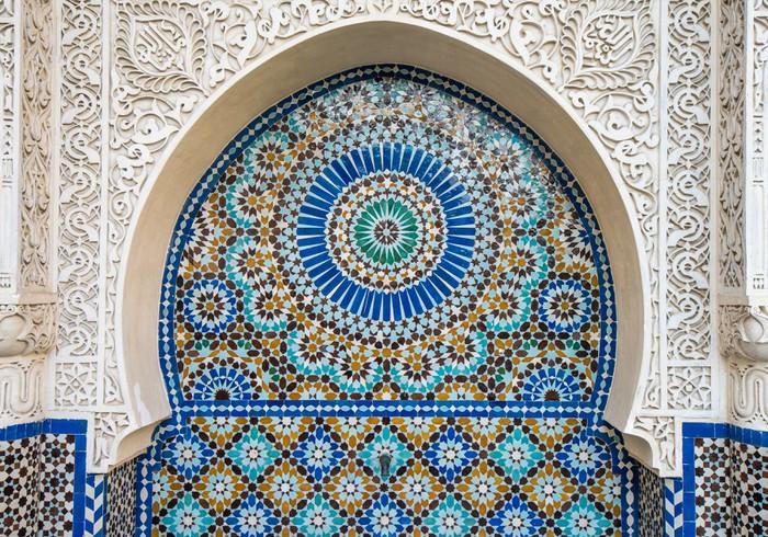 Carta da parati decorazione di piastrelle marocchino u pixers