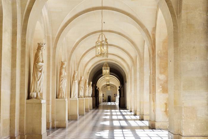 Carta da parati ampia marmo piastrella corridoio u pixers
