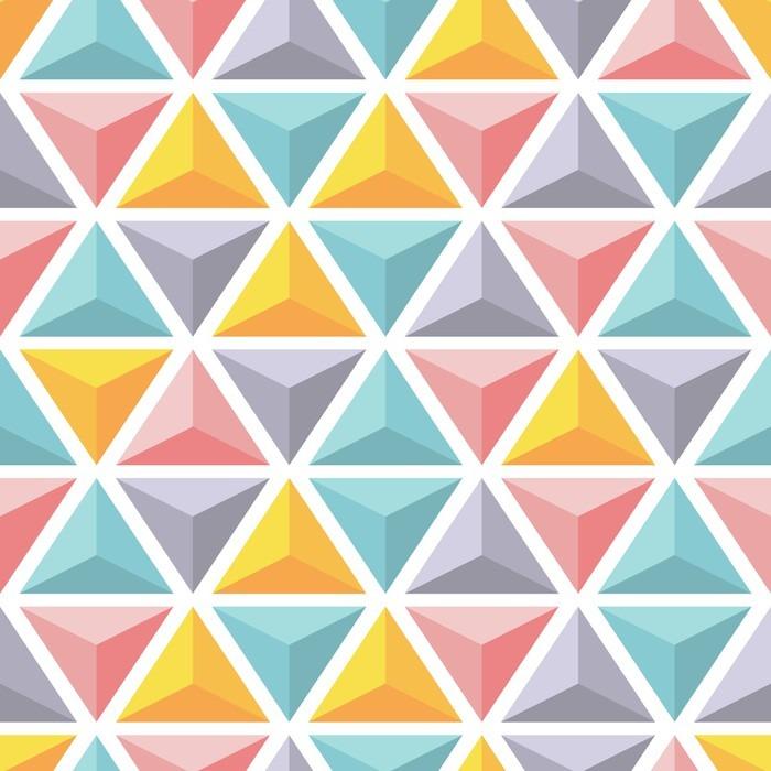 Naklejka na Drzwi Wektor bez szwu z kolorowymi piramid trójkąta. - Zasoby graficzne