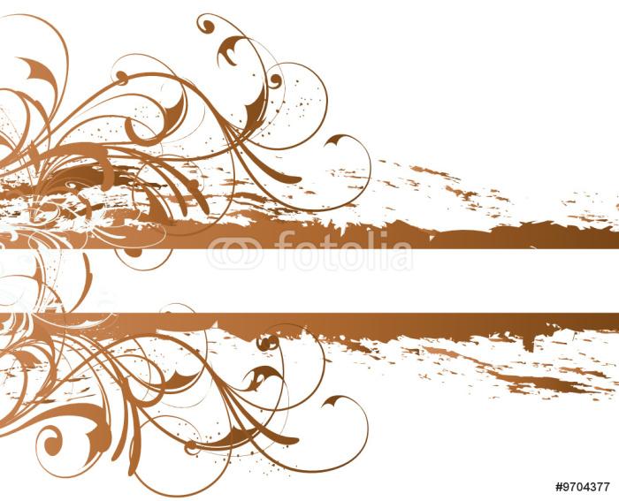 Tableau sur Toile Banniere arabesque marron Cuivre - Arrière plans