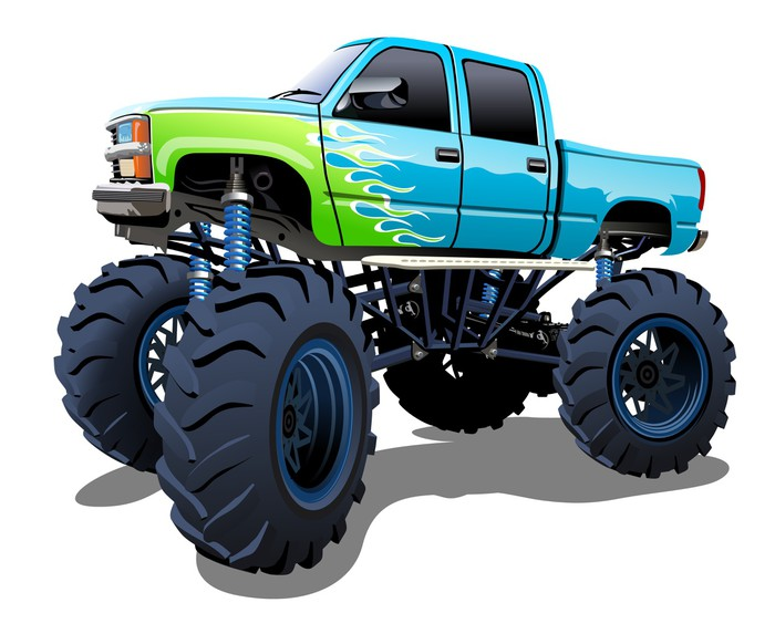 Fensteraufkleber Cartoon Monster Truck • Pixers® - Wir leben, um zu ...