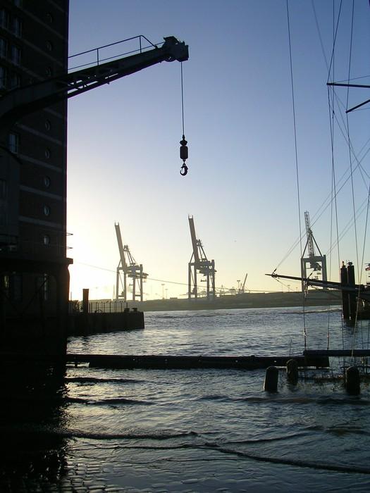 Vinylová Tapeta Port of Hamburg - Město