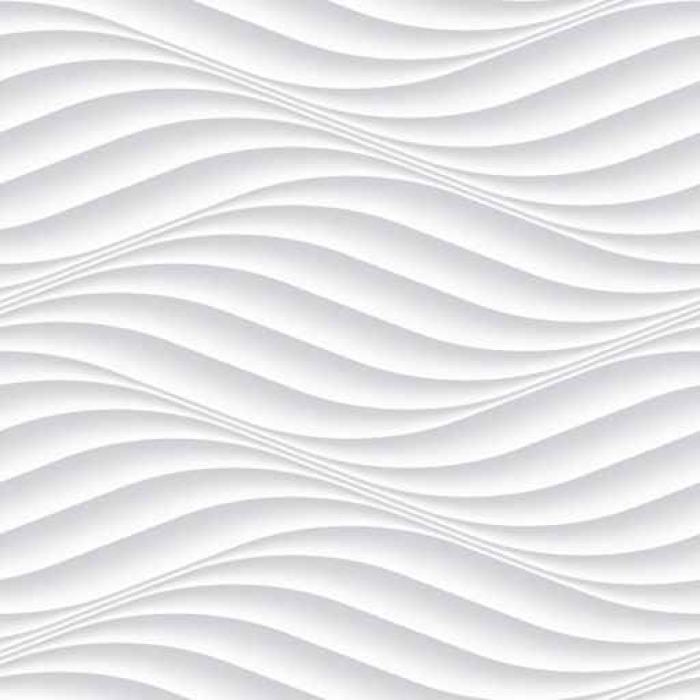 Fototapete Weiß nahtlose Hintergrund Platte mit gewellter Textur ...