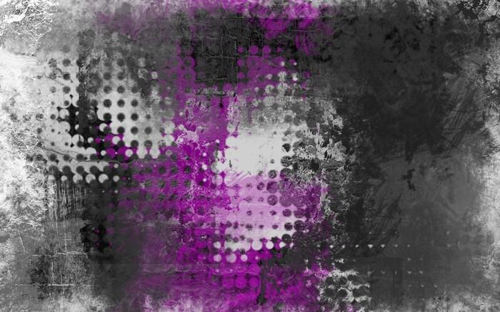 Abstrakt grunge baggrund med grå, hvid og lilla Vinyl Fototapet -
