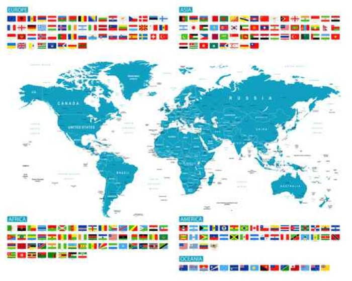 All flags and world map murena vector collection of world flags all flags and world map murena vector collection of world flags and map gumiabroncs Choice Image
