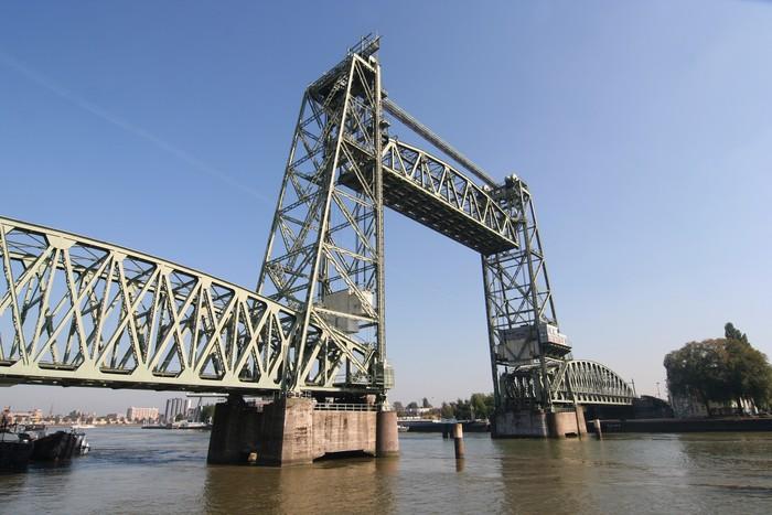 Plakát Monumentální Koningshaven Železniční most (de Hef) v Rotterdamu - Těžký průmysl