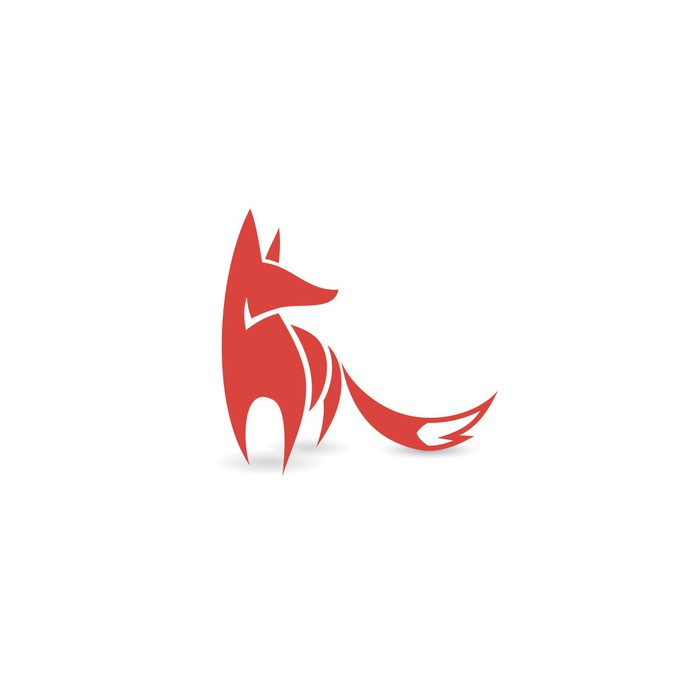 Fox Symbol Wall Mural Pixers 174 We Live To Change