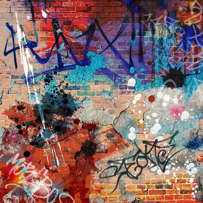a messy graffiti wall background wall mural pixers we live to