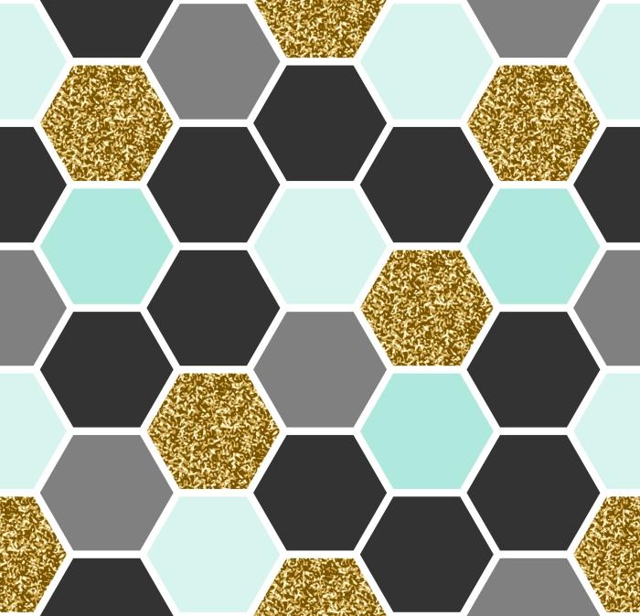 Samolepicí fototapeta Hexagon bezešvé vzor - Otisky